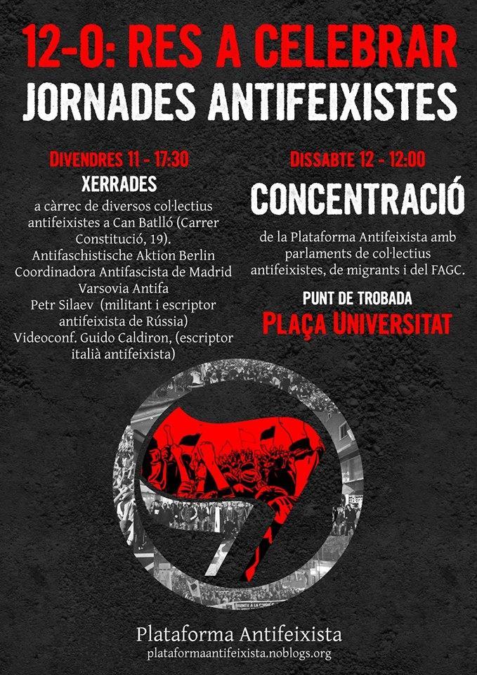 Cartell de les Jornades Antifeixistes