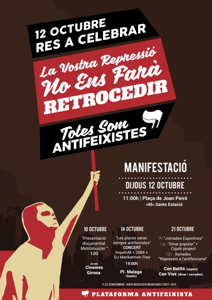 12 octubre 2017 antifeixista antifeixistes barcelona